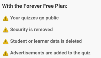 ProProfs Review Forever Free Plan
